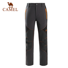 CAMEL Windproof Hiking Pants Men Sports Pants Quick Dry Breathable Outdoor Trousers Women Waterproof Mountain Trekking Pant
