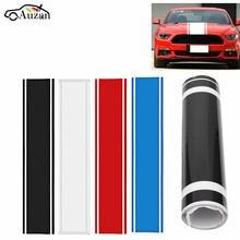 1x наклейка для автомобиля, виниловые графические наклейки с капюшоном, двойная гоночная полоса для Mustang 938