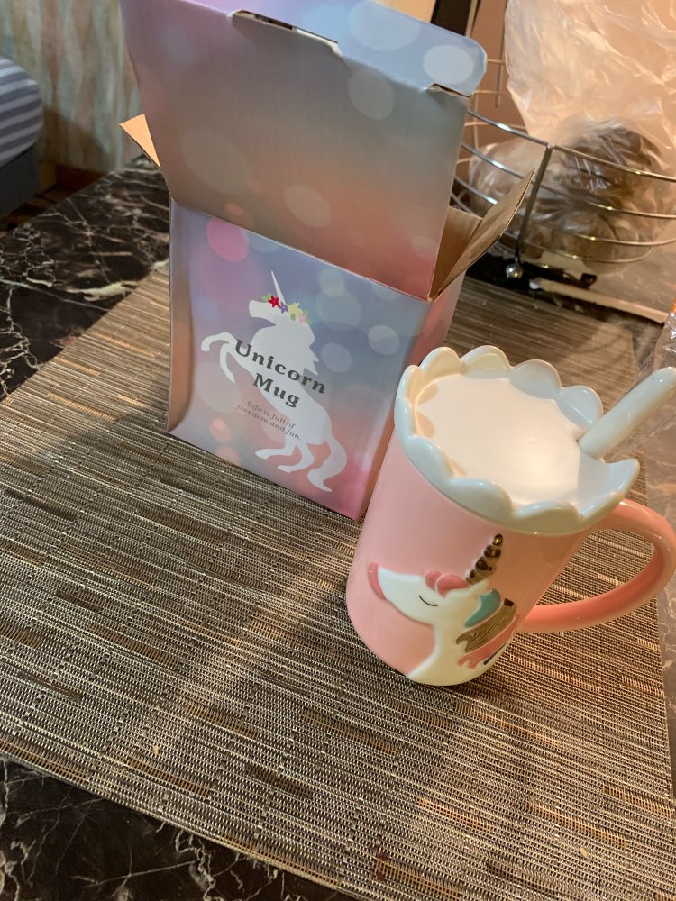 Creative 3D Unicorn Coffee Mug with Spoon and Crown photo review