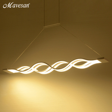 Подвесные светильники для столовой, современные светодиодные лампы для столовой, акриловые + металлические подвесные потолочные лампы, домашнее освещение для кухни