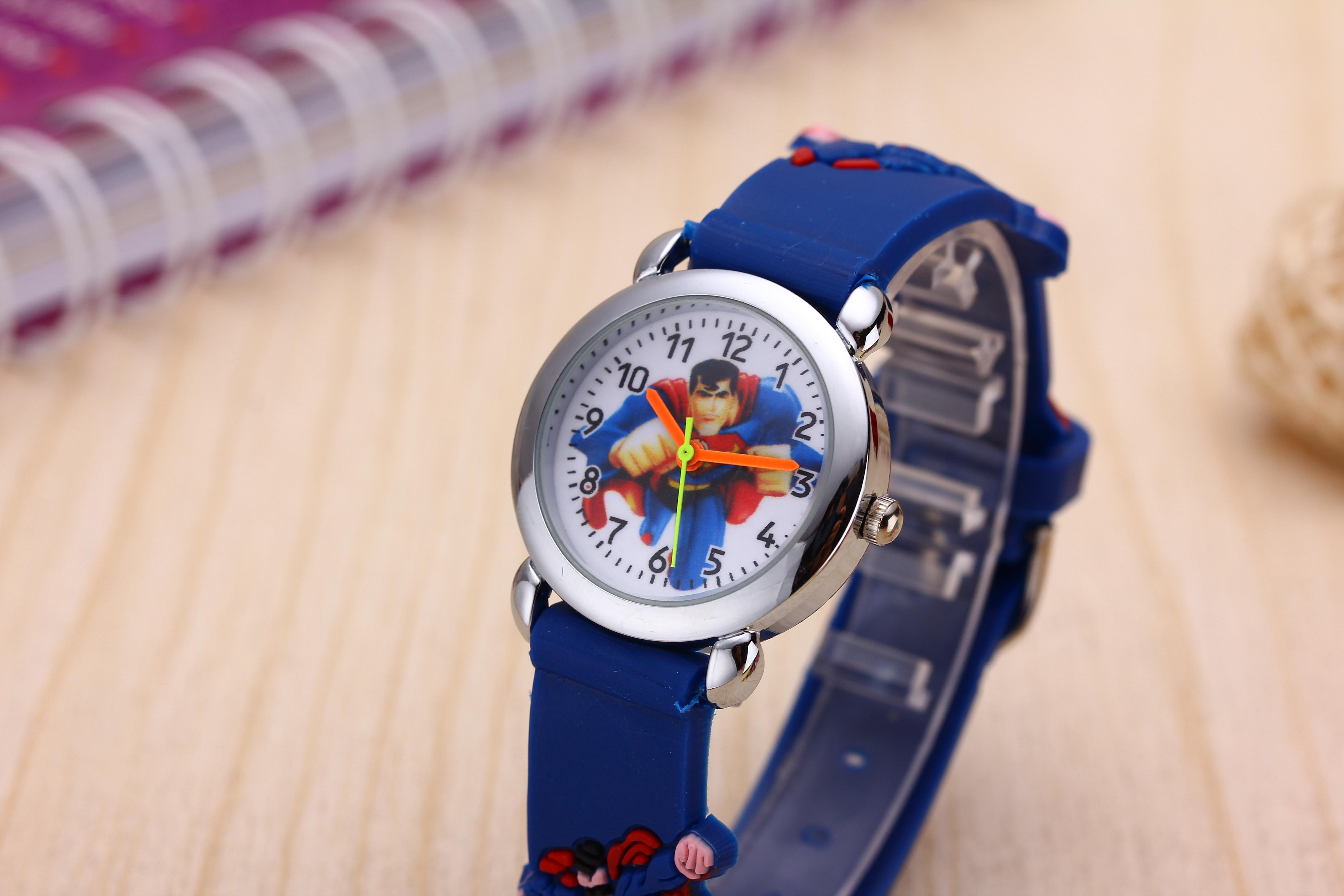 Kids Watches Girls Children Pink Dress Wrist Watch Cute Child Cartoon Silicone Baby Clock Saat Relogio Montre Enfant