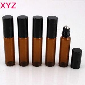 Image 2 - 100 Pieces/Pieces 10ml 1/6oz ROLL ON AMBRA Bottiglia di Profumo di Olio Essenziale di Aromaterapia Palla di Bottiglia di Trasporto Libero