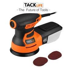 Tacklife PRS01A случайная орбитальная шлифовальная машина 350 Вт 13000 об/мин шлифовальная машина с 12 шт наждачной бумагой высокая производительность сбора пыли электрический инструмент