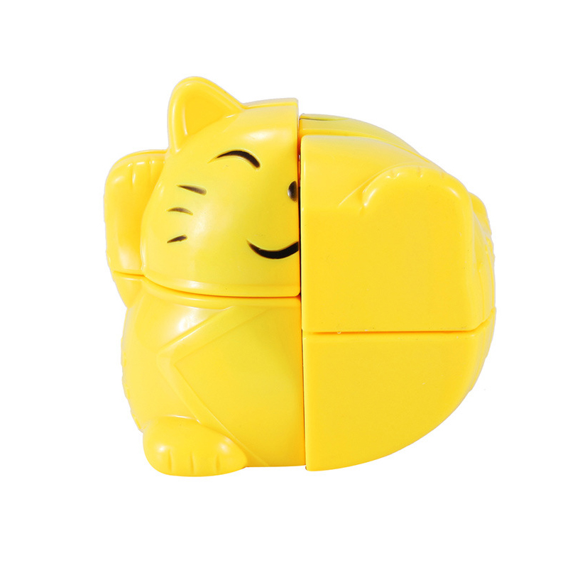 YONGJUN Creative 222 Puzzle Cube High Quality Yellow Lovely Cat Fidget Children Intelligence Development Educational Toys In Magic Cubes From