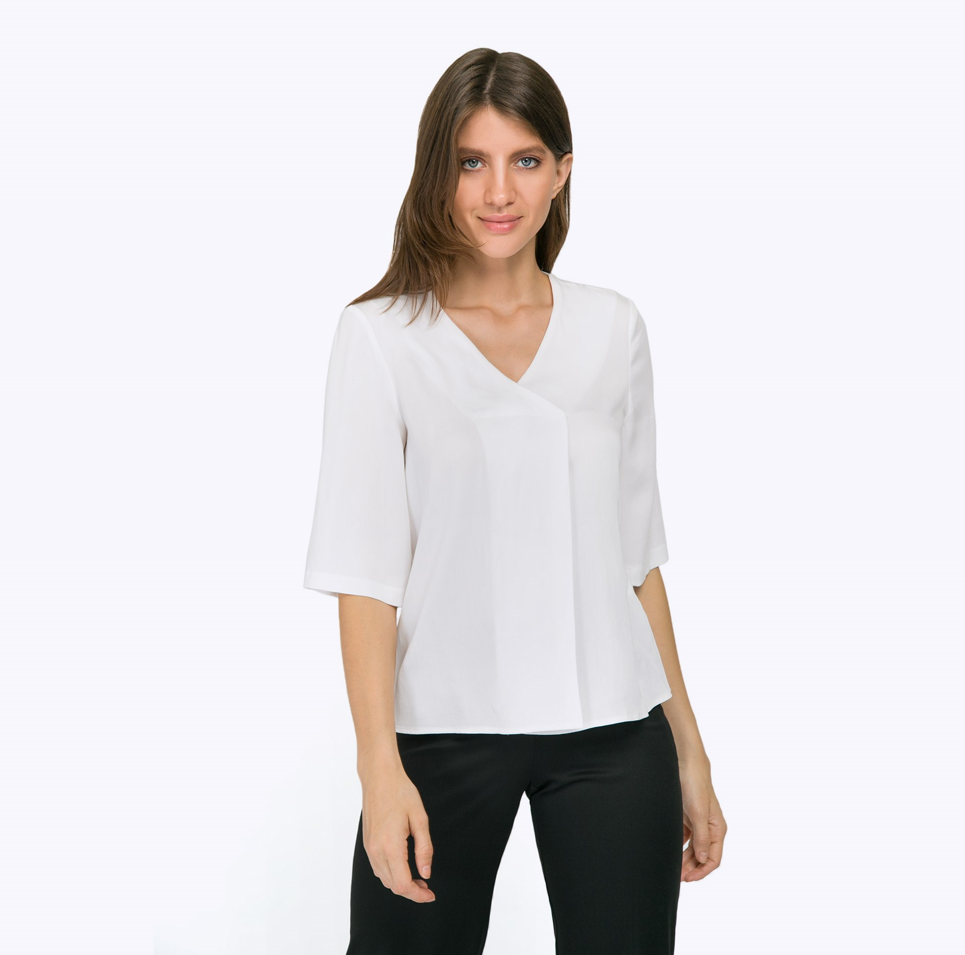 Blouse B2293/desponi ruffle trim blouse