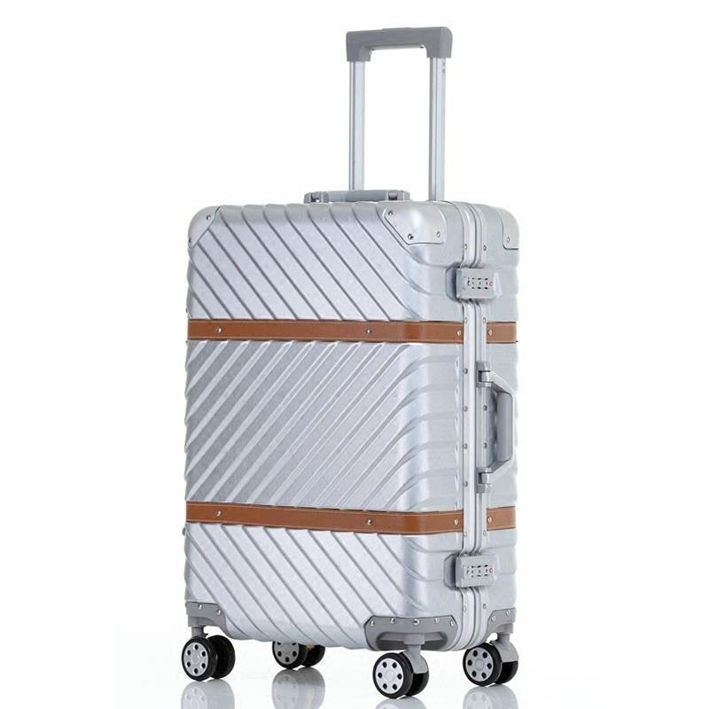Med hjul Valise Bagage Roulettes Travel Aluminiumlegeringsram Carro - Väskor för bagage och resor - Foto 2
