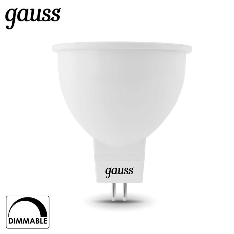 Лампа светодиодная Gauss LED MR16 GU5.3 dim 5W 2700K 4100K диммируемая 101505105 D 101505205 D