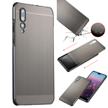 For Huawei P20 Pro Case Luxury Shockproof Aluminum Bumper Brushed Metal Hard Cover Plus