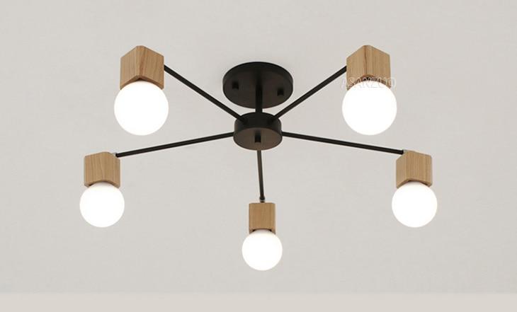 UTB8t92sBCnEXKJk43Ubq6zLppXaV Nordic iron wood ceiling Light Modern home Living Room Bedroom aisle LED Ceiling Lamp Luminaire Lampara Techo