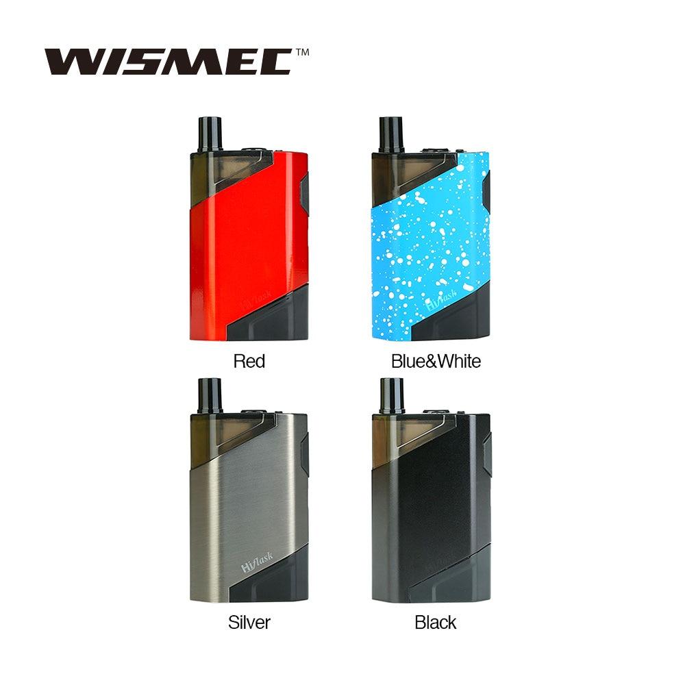 Orignal Wismec HiFlask POD Kit avec 2100 mah Batterie JVUA Système & 5.6 ml Cartouche Vaporisateur E Cigarette Vaper Vaporisateur VS GEN3 Double