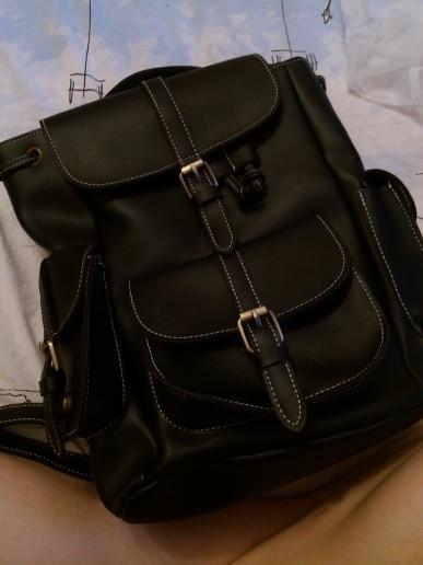 Vintage Drawstring Backpack Women High Quality PU Leather Backpacks Sac a Dos Black 2019 Shoulder Bag Female School Bags XA1179H photo review