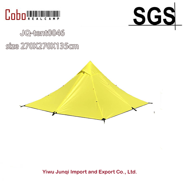 Backpacking Pyramid Tent for 2 Person Hiking Mountaineering Trekking Camping Waterproof Double Layer Lightweight 3 Season