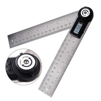 2 in 1 Digital Angle Finder 360 degree Protractor Stainless Steel Ruler 400mm Blade Angle Gauge Tool