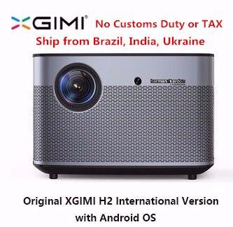 D'origine XGIMI H2 Projecteur Home Cinéma 300 pouce 1080 p Full HD 3D Android Bluetooth Wifi Suppor4K DLP TV Beamer