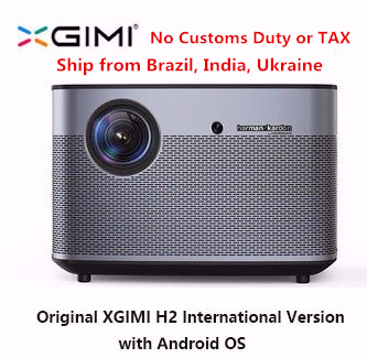 Originale XGIMI H2 Proiettore Home Theater 300 pollice 1080 p Full HD 3D Android Bluetooth Wifi Suppor4K TV DLP Beamer