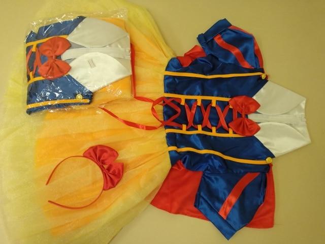 Детское платье для костюмированной вечеринки; костюм Белоснежки; платье принцессы для девочек; карнавальный костюм на Хэллоуин, комплекты одежды для детей; детская одежда; платья для девочек