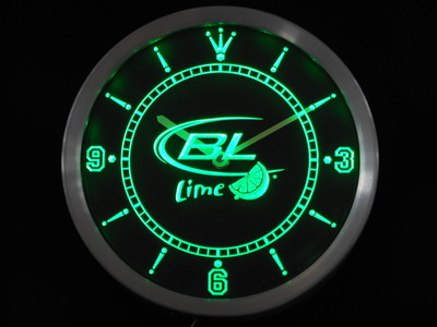 nc0489 Bud <font><b>Light</b></font> Lime Beer Bar Neon Sign LED Wall Clock