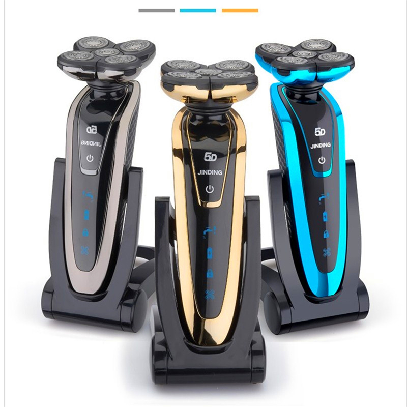 ACEVIVI Wet/dry 5D Shaver Men Electric Shaver Electric Razor Rechargeable body shaving machine waterproof beard shaver cleaning the new body wash wet and dry two heads rotary man beard shaver beauty hair removal travel portable rechargeable smart shaver