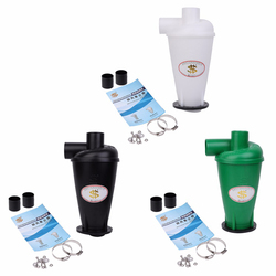 Cyclone Dust Collector Vacuum Cleaner Filter Dust Separator Catcher Turbocharged With Flange Base SN50T3 1 Set