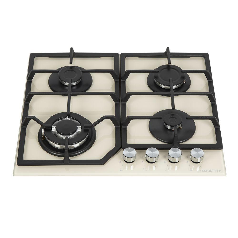 Cooking panel MAUNFELD EGHG.64.43CBGI/G Ivory cooking panel maunfeld eghg 64 2cb g black