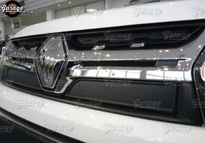 Image 3 - Winter Caps Voor Renault Duster 2015 2018 Op Radiator Grill Abs Plastic Guard Accessoires Cover Beschermende Auto Styling Tuning