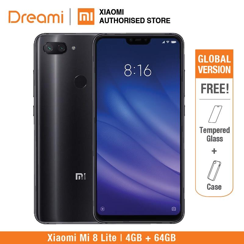 Глобальная версия Xiaomi Mi 8 Lite 64 ГБ 4 ГБ оперативная память (новый и запечатанный)
