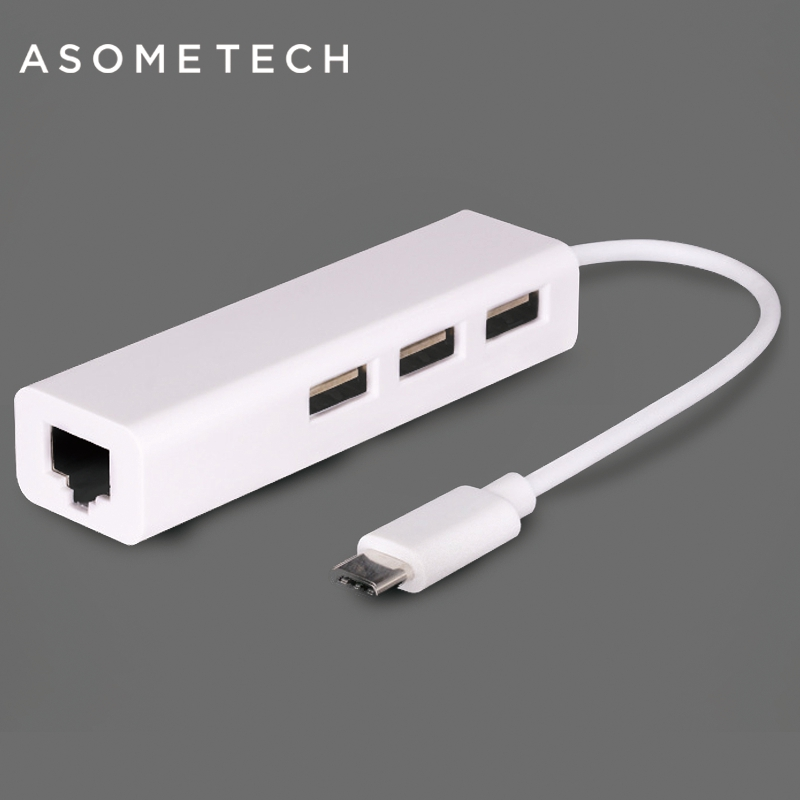USB 3.1 Type C RJ45 Ethernet 100 MB Network Adapter Multiple 3 Port USB HUB For Macbook Air Pro Retina 11 12 13 Laptop Notebook usb 3 1 type c usb c multiple 3 ports hub with ethernet network lan adapter new