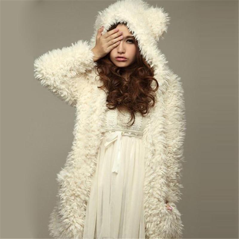 ZANZEA Teddy Bear Ears Coat Hoodies Sweatshirt Women 2018 Winter Warm Thick Soft Fleece Fur Overcoat Hooded jacket Plus Size 3XL ...