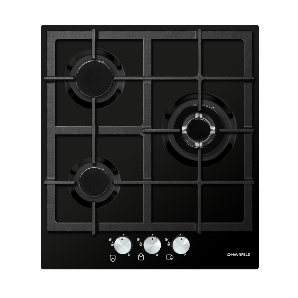 Cooking panel MAUNFELD EGHE.43.33CB/G Black cooking panel maunfeld eghe 64 43cw g white