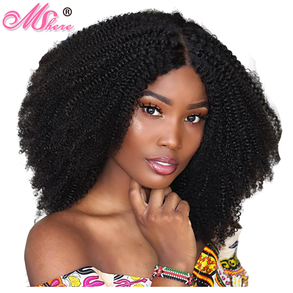 Hair Extensions & Wigs Full Lace Human Hair Wigs For Black Women Remy Mongolian Kinky Curly Human Hair Wig Pre Plucked With Natural Baby Hair Riya Hair Human Hair Lace Wigs