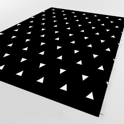 Else Black Floor White Triangle Geometric 3d Print Non Slip Microfiber Living Room Decorative Modern Washable Area Rug Mat