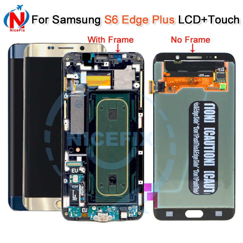 For SAMSUNG GALAXY S6 EDGE Plus G928 G928F LCD Display Touch Screen Digitizer with frame For