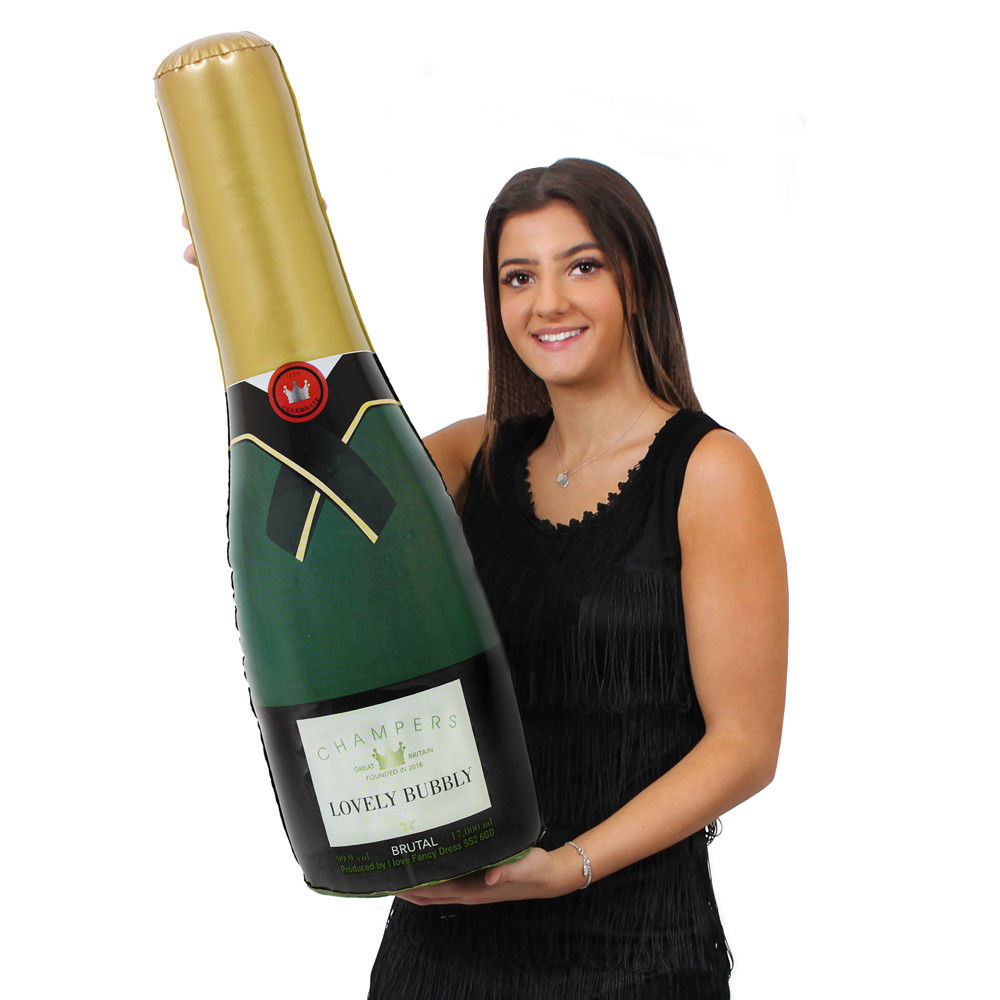 73CM LARGE INFLATABLE CHAMPAGNE BOTTLE WINE BOTTLE PLASTIC CELEBRATION BLOW UP HEN PARTY DECORATION WEDDING ANNIVERSARY GIFT