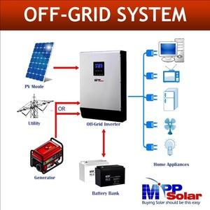 Image 2 - (MG) 5000w 48vdc 230vac Solar inverter max 450V PV eingang MPPT 80A solar ladegerät + batterie ladegerät 60A parallel in der lage