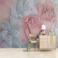 Vintage Photo Wallpapers 3D Roses Wall Papers for Living Room Home Decor Flowers Wall Murals European Painting Bedroom Wallpaper
