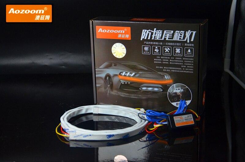 120см AOZOOM стайлинг автомобиля СИД освещения задний багажник хвост света Динамическая растяжка поворота тормоза Сид предупреждающий сигнал Светов прокладки