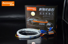120CM AOZOOM Car Styling LED Lighting Rear Trunk Tail Light Dynamic Streamer Brake Turn Signal Leds Warning Lights Strips