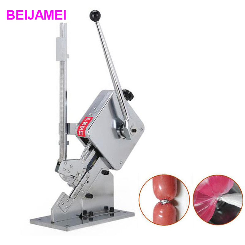 BEIJAMEI U-shape hand sausage clipping machine commercial manual sausage clipper machine for sausage casing sausage making equipment u shape sausage clipping machine manual sausage clipper machine price
