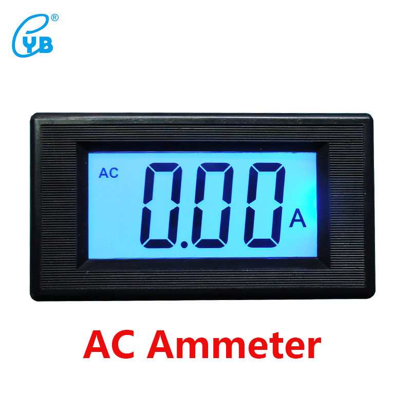 Digital Current Meter : Yb d three and a half ac ammeter lcd liquid crystal