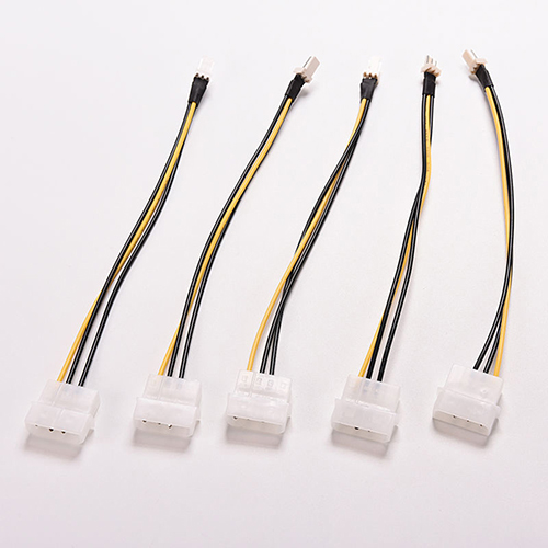 5 Pcs 4-Pin Molex/IDE To 3-Pin CPU Case Fan Power Connector Cable Adapter 20cm