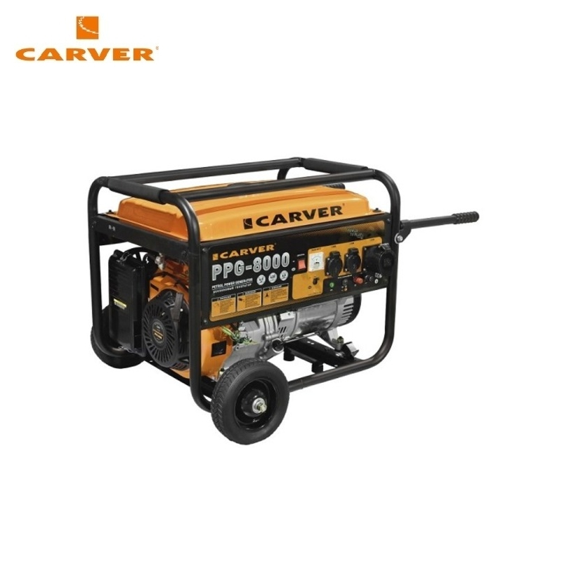 Petrol power generator CARVER PPG-8000 Power home appliances Backup source during power outages Benzine power stations стоимость