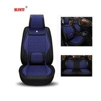 Linen Plus Pu Leather Universal Car Seat Cover Interior Accessories Automobiles Seat Covers Auto Cushion Interior