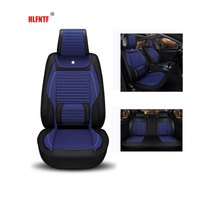Linen Plus Pu Leather Universal Car Seat Cover Interior Accessories Automobiles Seat Covers Auto Cushion Interior