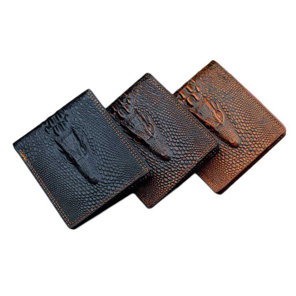 2018 Short Men's Wallet New Arrival Brand Crocodile ,pu Leather Quality Guarantee Purse For Male,coin Purse 2016 new arrival brand short crocodile men s wallet genuine leather quality guarantee purse for male coin purse free shipping
