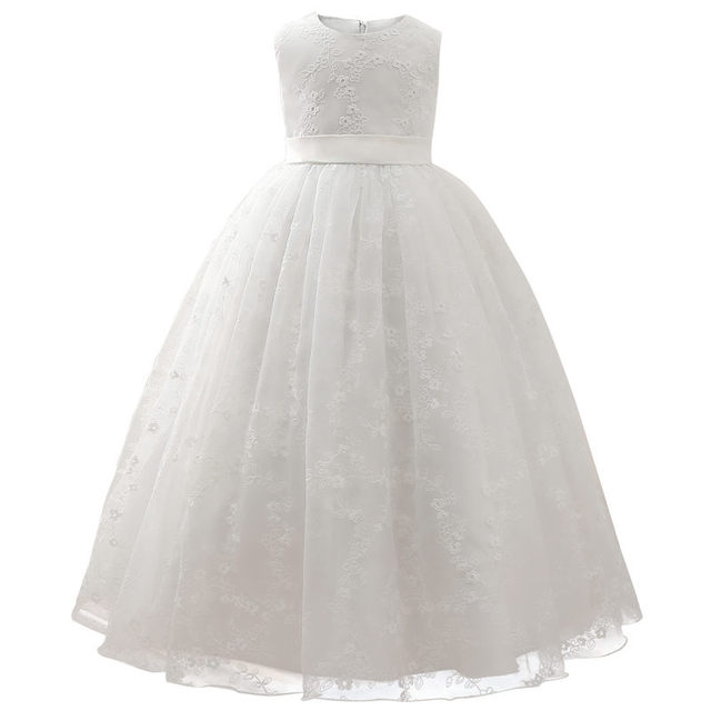 Lace Wedding Flower Girl Dress