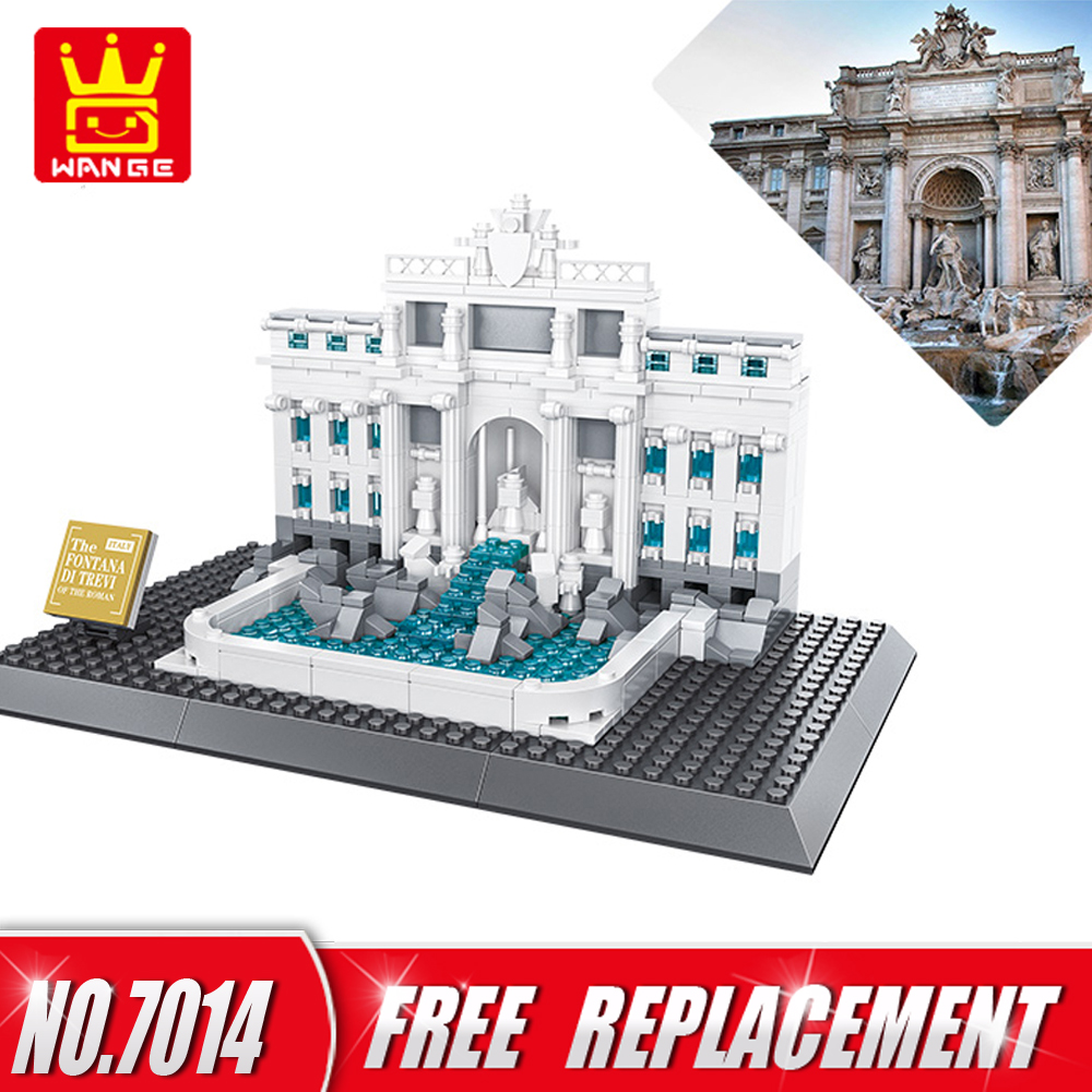 WANGE Building Blocks Toys For Children Gifts Architecture Series Fontana di Trevi of Roman 667pcs Bricks Home Decor NO.7014 no–talk therapy for children