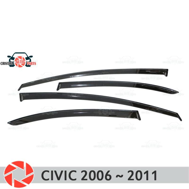 цена на Window deflector for Honda Civic 2006~2011 rain deflector dirt protection car styling decoration accessories molding