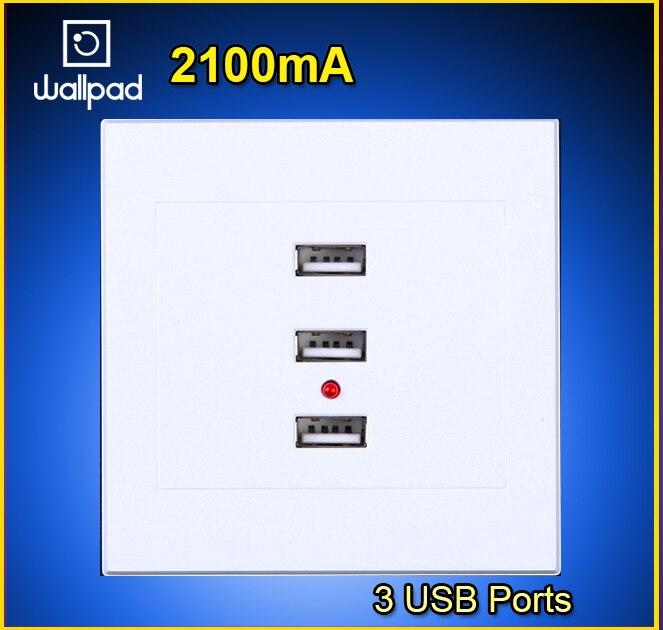 Роскошные 3 Порты <font><b>USB</b></font> розетки для Вилки 110-250 В розетки 3 Порты и разъёмы 5.0 В 2100 мА <font><b>USB</b></font> выход Мощность Зарядное устройство Разъем Бесплатная доста&#8230;