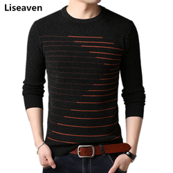 Liseaven Sweaters Mens O-Neck Pullover Wool Sweater Male Pull Homme Brand Men's Pullovers Clothing
