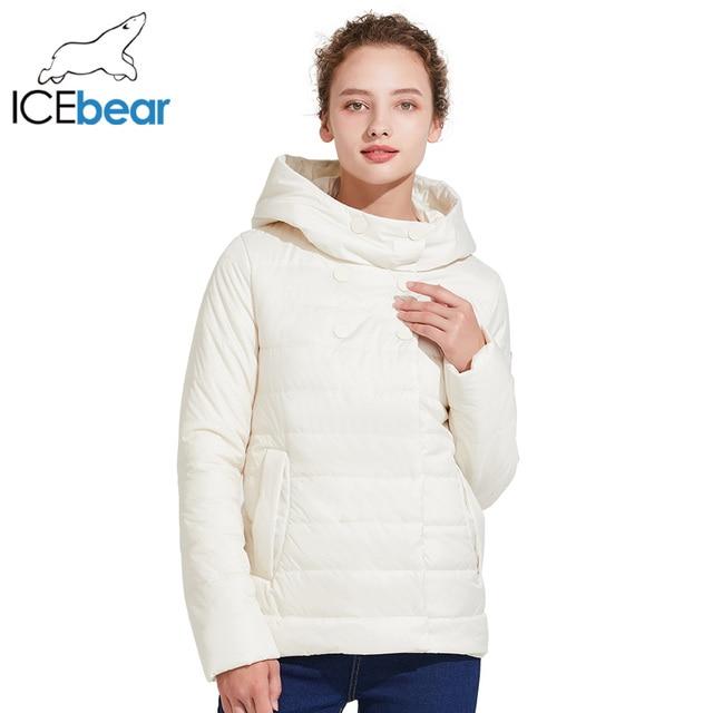 ICEbear 2018 Новинка тёплая короткая куртка с двухрядными кнопками демисезонная модная парка 17G2117D